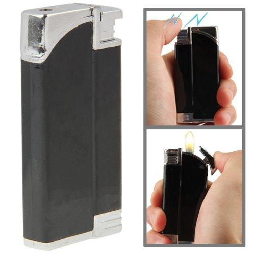 2 In 1 (Lighter + Electric Shock) Magic Trick Prank(Black)