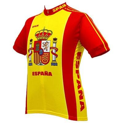 Image of World Jersey's Men's Espana Short Sleeve Cycling Jersey (B001GDWE4U)