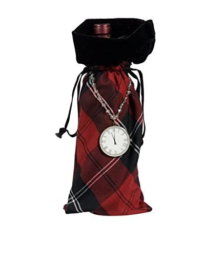 Winward Handcrafted English Manor Wine Bag, Red/Black