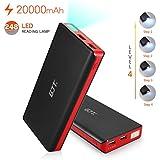 GJT®20000mAh Power Bank 4 LED Light Backup External Battery Portable Charger Dual USB Port For Apple IPhone 6...