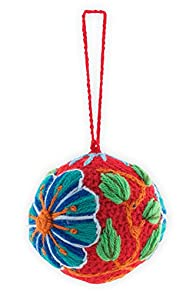 Tey-Art Hand Embroidered Holly Fair Trade Ornament