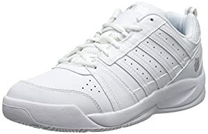 K-Swiss Women's Vendy Tennis Shoe, White/Silver, 12 M US