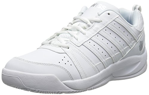 K-Swiss Women's Vendy Tennis Shoe, White/Silver, 7.5 M US