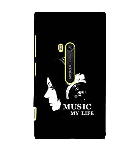 EPICCASE Music my Life Mobile Back Case Cover For Microsoft Lumia 920 (Designer Case)