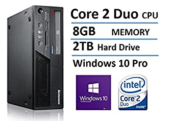 2016 Lenovo ThinkCentre M58 High Performance Desktop Computer, Intel Core 2 Duo 3.0GHz, 8GB DDR3 RAM, 2TB HDD, DVDRW, Windows 10 Pro (Certified Refurbished)
