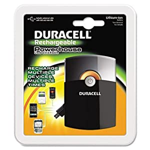Duracell PPS3US0001 Powerhouse Charger, Universal Cable w/USB & Mini-USB