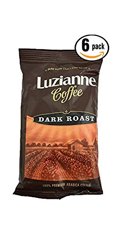 Pack of 6, 2.25 Oz Luziannee Coffee Dark Roast 100% Premium Arabica Coffee (Godiva Espresso Beans compare prices)