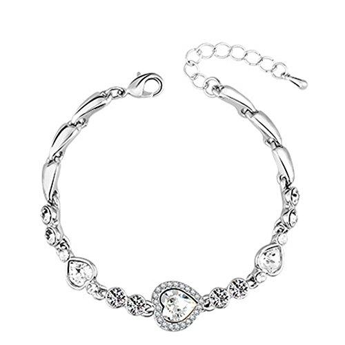 LadyHouse Austrian High-Grade Crystal Love Design Fashion Bracelet(C1)
