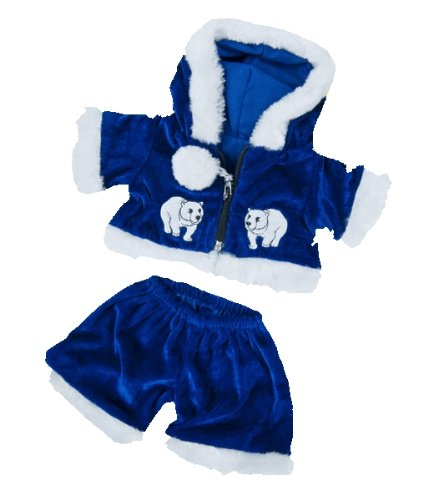 41a7NEUw AL Buy  Blue Polar Bear Outfit Teddy Bear Clothes Fits Most 14   18 Build A Bear, Vermont Teddy Bears, and Make Your Own Stuffed Animals