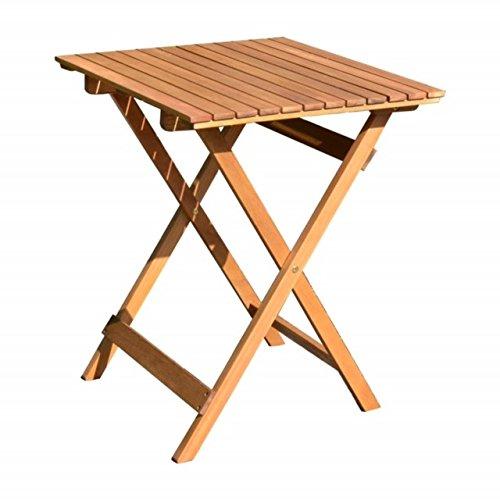 Klapptisch-58x58-cm-Balkontisch-Balkon-Mbel-Gartenmbel-Hartholz-Tisch-quadratisch-Garten
