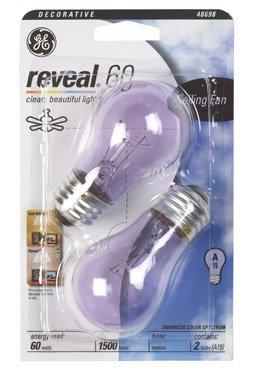 Ge 48698 60 Watt Reveal Ceiling Fan Clear A15 Light Bulbs
