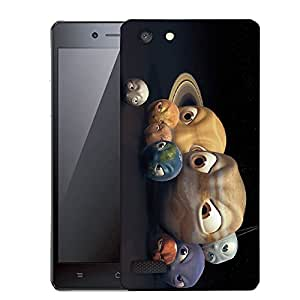Snoogg Angry Planets Designer Protective Back Case Cover For OPPO NEO 7