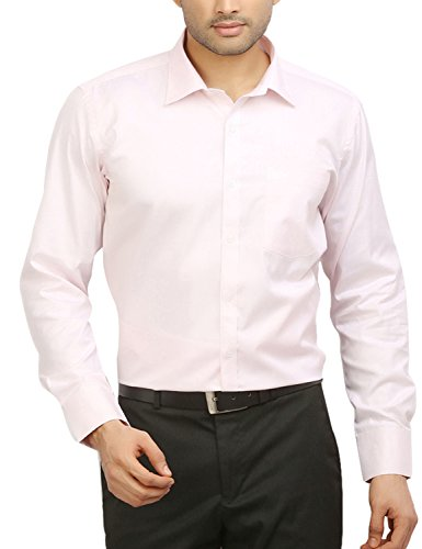 ODIN Men's Button Down Shirt (ODSH00031, Pink, 40)