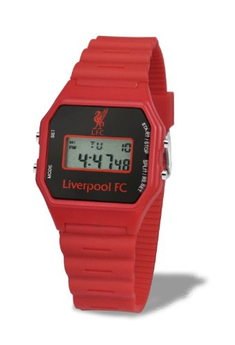 Premiership Football Children's Quartz Stop Watch with LCD Dial Digital Display and Red Plastic or PU Strap GA3742