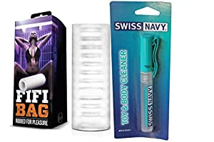 Bundle package 1 Blush X5 Men Fifi Bag Stroker  AND 1 Swiss Navy Toy &