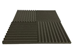 "Advanced Acoustics Acoustic Treatment 15"" Wedge Studio Foam Tiles"