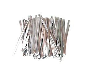 100 Silver 3 Inch 75mm Plastic Twist Ties By Classikool Coated both sides & professional wire unlike cheaper ones