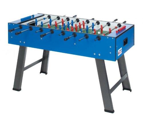 Schmidt Sportsworld Tischfußball Smile mit Teleskopstangen Griffhöhe 73 cm, Blau, 85.0091T