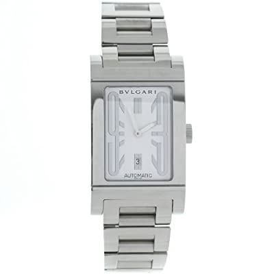 Bvlgari Rettangolo RT45SSD Stainless Steel Swiss Automatic Mens Watch by Bvlgari