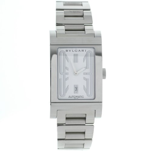 Bvlgari Rettangolo RT45SSD Stainless Steel Swiss Automatic Mens Watch
