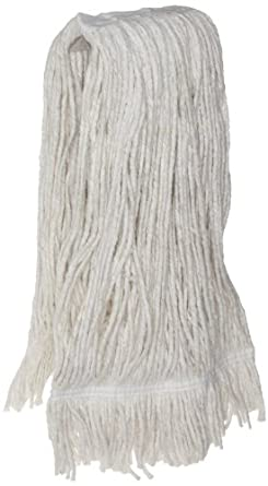 Zephyr Blendup 4-Ply Blended Natural and Synthetic Fibers Cut End Wet Mop Head with Fantail (Pack of 12)