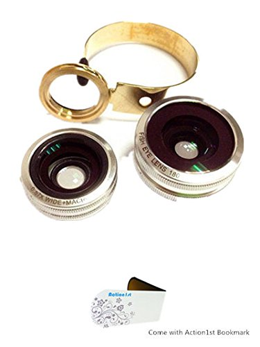 Action1St Aluminum 3 In 1 Universal Circle Clip Lens Fisheye+Wide Angle+Macro For Most Mobile Phone Iphone 4 4S 5 5S 5C Samsung Galaxy S2 S3 S4 S5 Note 1 2 3 4 Htc One Blackberry Nokia Lenovo Sony Xperia, Ipad Ipod Android Tablet Laptops Pc (Silver)