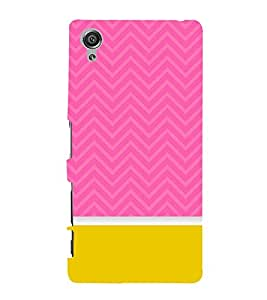 Classic Yellow Pink Design 3D Hard Polycarbonate Designer Back Case Cover for Sony Xperia X :: Sony Xperia X Dual
