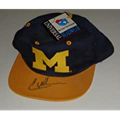 Chris Weber signed Michigan Wolverines hat *Comes with a Certificate of...