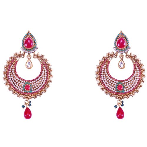 Aditri Aditri ROLY ROUND EARRINGS (Multi) (DN 147) (Multicolor)