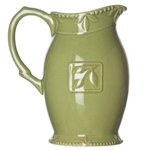 Signature Housewares Sorrento 2-Quart Stoneware Pitcher, Green