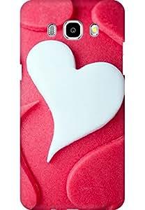 AMEZ designer printed 3d premium high quality back case cover for Samsung Galaxy J7 (2016) (Heart Love Shaped Desert Cake)