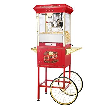 Great Northern Popcorn 6030 GAP FULL PRINCETON Antique Style Popcorn Popper Machine Complete with Cart and 8-Ounce Kettle