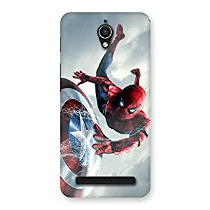 Gorgeous web sheild Multicolor Back Case Cover for Zenfone Go
