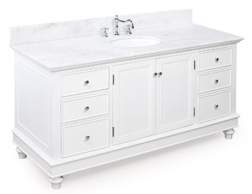 Buy bella 60 inch bathroom vanity white product for sale for Bathroom vanity tops for sale