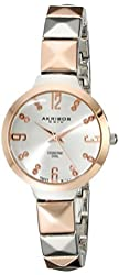 Akribos XXIV Women's AK793TTR Analog Display Swiss Quartz Multi-Color Watch