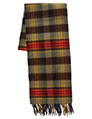Best of British Pure Lambswool Double Face Checked Scarf