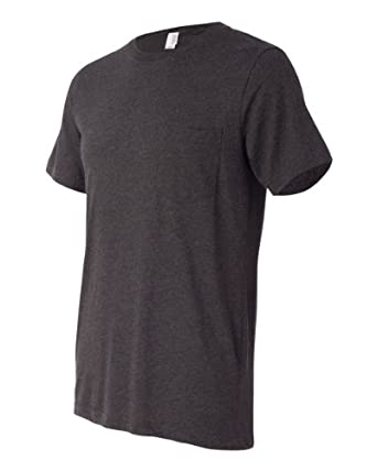 Jersey Pocket T-Shirt , Color: Dark Grey Heather, Size: Small
