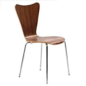 LexMod Arne Jacobsen Style Series 7 Side Chair in Walnut