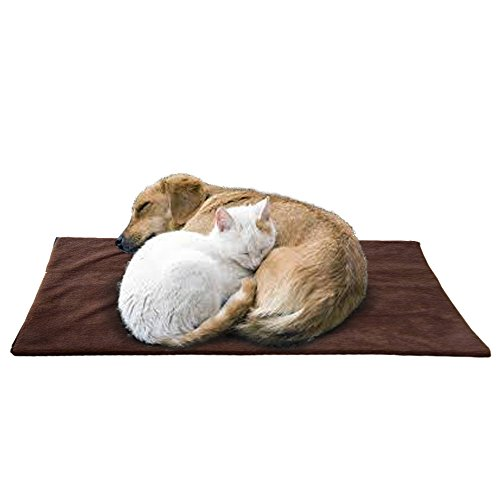 Pet Thermal Mat – The Best Self Warming Pet Dog Bed Mat Crate Pad (X-LARGE) Made of Soft Faux Lambs Wool Upper Material+ Super Reflective Thermal Insert That Keeps Your Pet Comfortably Warm Through Cold Weather While Sleeps + Comes With A Removable, Machine Washable Cover+ A Best Selling eBook As Bonus, ORDER NOW!