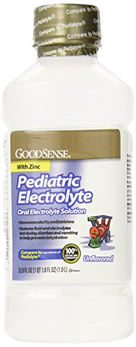 GoodSense Pedia Electrolyte Liquid, Unflavored, 33.8 Fluid Ounce (Pack of 6)
