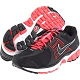 NIKE Zoom Vomero+ 6 Ladies Running Shoes, Black/White/Red, UK6.5