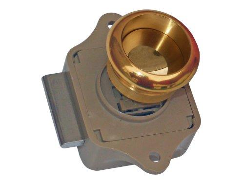 Lacqued Brass Push Button Cabinet Rim Latch -Boat Caravan, Rv- Five Oceans front-283821