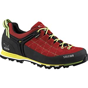 Salewa Mountain Trainer GTX Approach Shoe - Backcountry Exclusive - Men's Red/Citro - Exclusive, 10.5