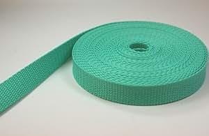 10m PP Gurtband - 30mm breit - 1,4mm stark - minze (UV)