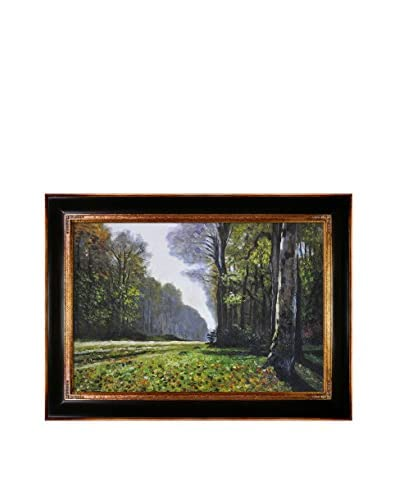 Claude Monet's The Road To Bas-Breau, Fontainebleau Framed Hand Painted Oil On Canvas