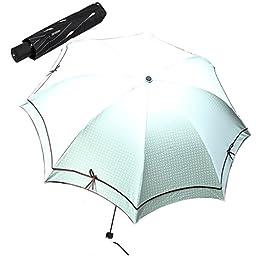 Jenabee® Black Vinyl Underneath Parasol Bowknot Sun Block Umbrella Sun-Proof Rain Umbrellas UV Protective