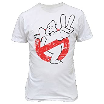 9202w GHOSTBUSTERS T-SHiRT inspired by Ghostbusters paranormal studies rays occult books (Small, White)