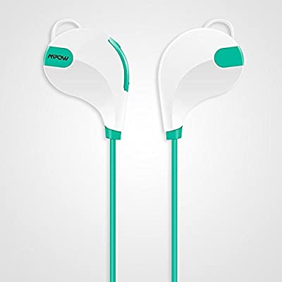 Mpow Swift Bluetooth 4.0 Stereo Sweatproof Jogger, Running, Sport Headphones Earbuds with AptX,Mic Hands-free Calling-Green