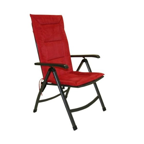 Greemotion 410558 Cushion for High-Backed Recliner Chair 120 x 47 x 4 cm Red