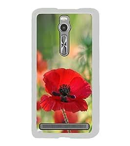 Red Flower 2D Hard Polycarbonate Designer Back Case Cover for Asus Zenfone 2 ZE551ML